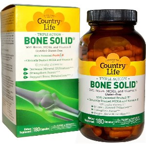 Bone Solid is a unique formula designed to support healthy bone structure, employing benefits from clinically studied nutrients such as MCHA (microcrystalline hydroxyapatite) and FruiteX B (a.k.a. calcium fructoborate) to strengthen and support bone metabolism..