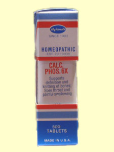 Hylands Calc. Phos. 6x helps to support bones, blood and more. It can be used by children and elderly who suffer from bone weakness..