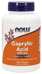Caprylic acid is a potent anti-fungal that kills candida cells and neutralizes acidity in the stomach..