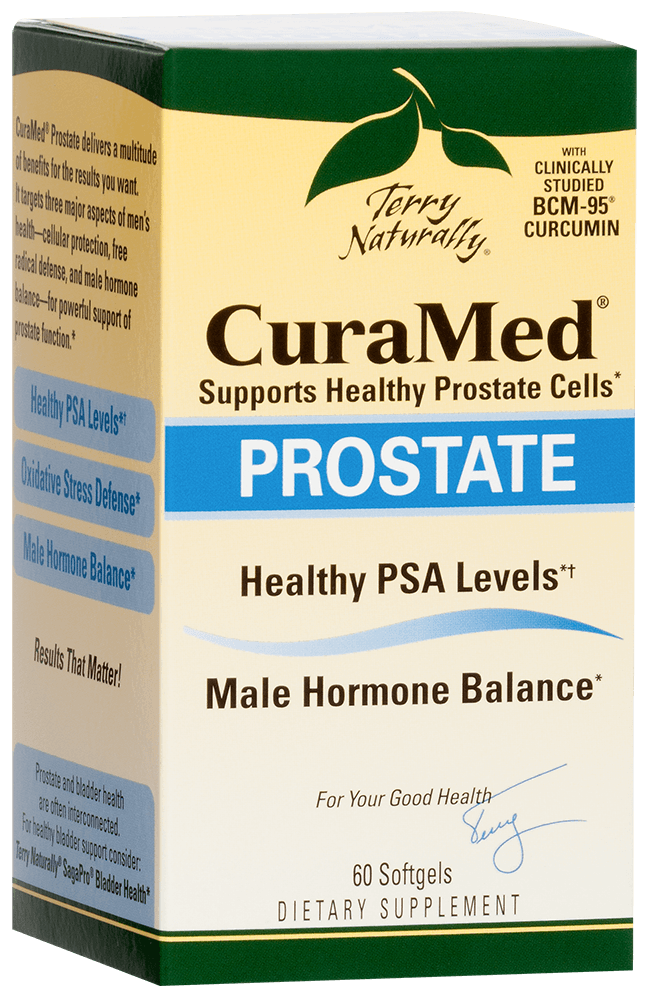 CuraMed Prostate contains botanical ingredients to support the prostate and should be part of a daily regime for all men seeking a healthy prostate as they age..