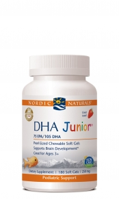 Designed especially for children, DHA Junior from Nordic Naturals provides high levels of essential fatty acids, working with Vitamins A and D to build healthy bones, reduce hyperactivity, and ensure a healthy brain and nervous system..