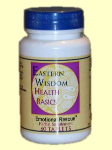 Eastern Wisdom Emotional Rescue (60 Tabs) is a specially designed formula to give your spirit, mind and body a lift..