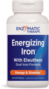 Maximum absorption iron and nutrient formula for energy and stamina. Non-constipating iron support..