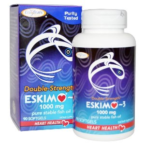 Eskimo-3 has naturally occurring, balanced ratio of EPA & DHA. The only NATURAL 1000 mg fish oil..