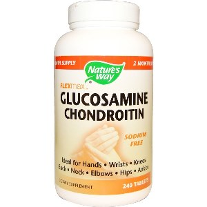 Nature's Way Glucosamine Chondroitin Sulfate with Stomach Guard is preferred by people concerned about high blood pressure because it is processed with sodium-free Glucosamine and Chondroitin which contains only 1% sodium per serving..