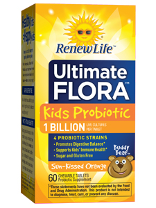 Renew Life the leaders in probiotics for the whole family offer a chewable probiotic for children ages 2 and up. Probiotics can help children who suffer from constipation, gas, bloating and digestive issues while boosting the immune system..