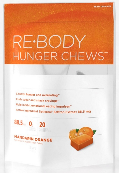 Re-Body Hunger Chews contain clinically researched Satiereal Saffron Extract, shown to curb hunger and cravings and inhibit emotional eating impulses. Buy Re-Body Hunger Chews at Seacoast Vitamins today for healthy weight loss..