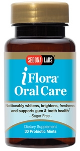 Improving bad breath naturally while reducing gum disease . iFlora Probiotic Mints are formulated to improve breath, reduce gum disease and promote healthier whiter teeth. Reduce harmful bacteria for fresh breath and optimal oral hygiene with pleasant tasting sugar-free iFlora mints..