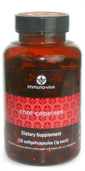 Immuno-Viva Core capsules deliver super-potent antioxidants to the system, boosting immune function. 1 tsp of Core oil is equivalant to 16 pounds of raspberries, rich in omega 3-6 and 9 fatty acids..