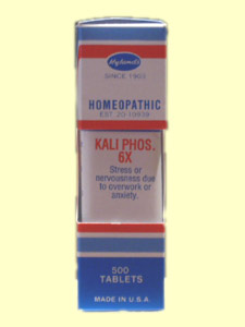 Hylands Kali Phosphoricum 6X works holistically to help overcome mood obstacles..
