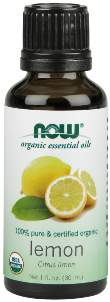 NOW Certified Organic Lemon Oil is 100% pure and natural, and cold-pressed from Citrus limon..