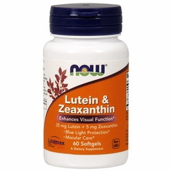 LUTEIN & ZEAXANTHIN 60 SOFTGELS-promotes visual health by protecting the eyes from oxidative damage..