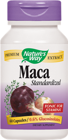 The Maca plant is a root-like vegetable that grows in the Andes Mountains in South America. It has been used by Peruvians for centuries to help enhance libido and stamina. Nature's Way Maca is a natural, herbal boost for vitality as well for general energy levels..