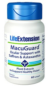 MacuGuard Ocular Support plus Astaxanthin & C3G (60 softgels). Super Zeaxanthin plus Astaxanthin supports eye fatigue and helps reduce blurry vision, dry eyes and discomfort..