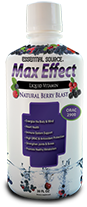 Max Effect Multi is a full spectrum multivitamin filled with vitamin B's, calcium, trace minerals, amino acids, flax seed oil, fresh fruit blend, CoQ10 and more. Energize your body with just one ounce daily..