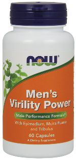 NOW Mens Virility Power is a 100% herbal formula specifically designed to support a mans modern, active lifestyle. This herbal blend helps increase vitality..