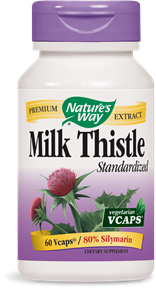 Nature's Way Milk Thistle extract supports normal liver function. The active bioflavanoid complex, silymarin, and silibinin, are powerful antioxidants in the liver and exert a protective effect against substances that may be potentially harmful to the liver..