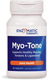Myo-Tone provides vitamins, minerals, and other nutrients that help support healthy collagen function. Joints rely on healthy collagen to provide structure for tendons, cartilage and connective tissues. Myo-Tone is absolutely the best product to maintain the integrity of muscles, tendons, and ligaments..