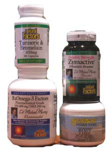 This care pack combines four products essential for inflammation - fish oil, proteolytic enzymes, turmeric & bromelain blend..