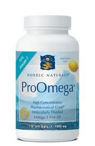 Nordic Naturals Pro Omega Fish Oil is rich in DHA and EPA, both essential fatty acids to proper brain function, a healthy heart and immune system, and joint health..