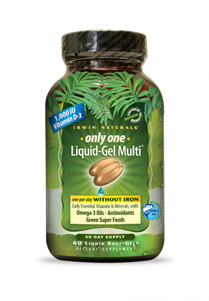 Are you searching for a high potency Multi is loaded with vitamins, minerals and trace nutrients to help you meet or exceed your daily nutritional requirements?  Irwin Naturals Only One Liquid-Gel Multi without Iron will meet your needs. Buy Today at Seacoast.com.