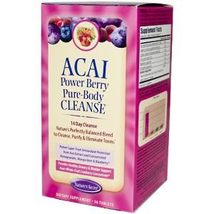 Acai Power Berry Pure-Body Cleanse (14 day - 56 tablets) Nature's Secret