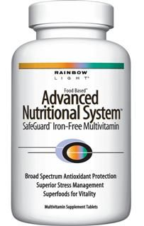 Advanced Nutritional System (Iron Free 180 tablets)* Rainbow Light