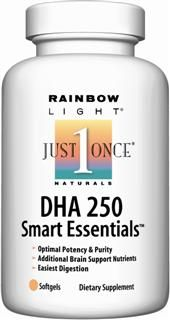 DHA 250 Smart Essentials (60 soft gels)* Rainbow Light