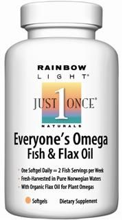 Everyone's Omega, Fish & Flax Oil (60 soft gels)* Rainbow Light