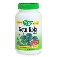 Gotu Kola Herb 180 Capsules* Nature's Way