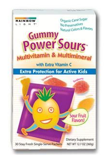 Gummy Power Sours Multivitamin & Multimineral (30 packets)* Rainbow Light