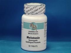 Melatonin (30 sublingual tablets) American Biologics