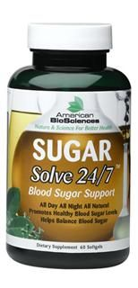 SugarSolve 24/7 (60 sgel) American BioSciences