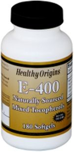 Vitamin E 400 IU (180 Gels) Healthy Origins