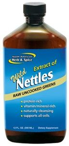 Wild Nettles Juice (12 oz) North American Herb and Spice