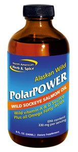 PolarPower - Wild Alaska Salmon Oil (8 oz) North American Herb and Spice