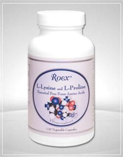 L-Lysine and L-Proline (120 capsules) Roex