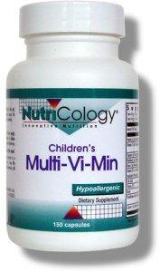 Children's Multi-Vi-Min (150 small v-caps) NutriCology