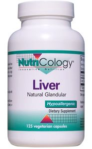 Liver Natural Glandular (125 caps) NutriCology