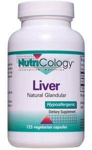Liver Natural Glandular (125 caps) NutriCology