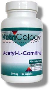 Acetyl L-Carnitine 500 mg (100 Vcaps) NutriCology