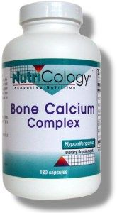 Bone Calcium Complex (180 capsules) NutriCology