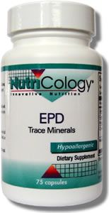 EPD Trace Minerals (75 Vcaps) NutriCology