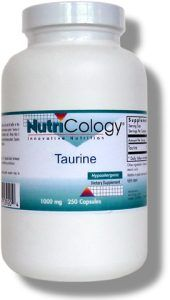 Taurine 1000 mg (250 Vcaps) NutriCology