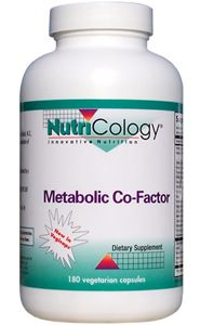 Metabolic Co-Factor (180 Vcaps) NutriCology
