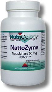 NattoZyme - Nattokinase, NSK-SD (50 mg 300 capsule) NutriCology