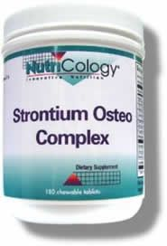 Strontium Osteo Complex Chewable (180 tabs) NutriCology