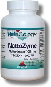 NattoZyme - Nattokinase, NSK-SD (100 mg 180 softgels) NutriCology