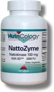 NattoZyme - Nattokinase, NSK-SD (100 mg 180 softgels) NutriCology