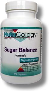 Sugar Balance Formula (90 Vcaps) NutriCology